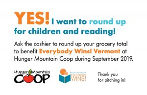 Round Up for Children at Hunger Mountain Co-op in September